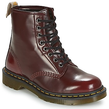 Shoes Mid boots Dr Martens VEGAN 1460 Cherry / Red / Cambridge / Brush