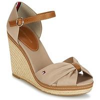 Shoes Women Sandals Tommy Hilfiger ICONIC ELENA SANDAL Beige