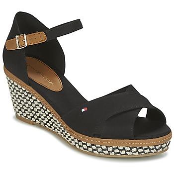 Shoes Women Sandals Tommy Hilfiger ICONIC ELBA SANDAL BASIC Black