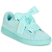 Shoes Women Low top trainers Puma WNS SUEDE HEART RESET.BLUE Blue / Pastel