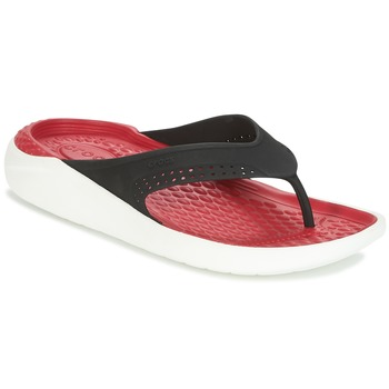 21a19d09cf0ef3 Crocs LITERIDE FLIP Black   Red - Fast delivery with Spartoo Europe ...