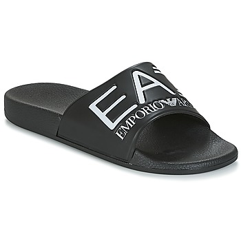 Shoes Men Tap-dancing Emporio Armani EA7 SEA WORLD VISIBILITY M SLIPPER Black / White