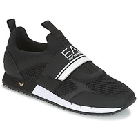 Shoes Men Low top trainers Emporio Armani EA7 BLACK & WHITE U Black