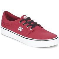 Shoes Men Low top trainers DC Shoes TRASE TX MEN Red / Black