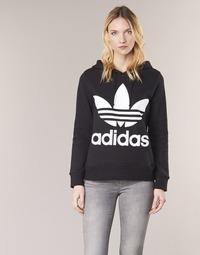 material Women sweaters adidas Originals TREFOIL HOODIE Black