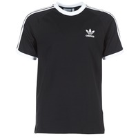 material Men short-sleeved t-shirts adidas Originals 3 STRIPES TEE Black