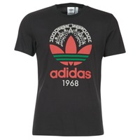 material Men short-sleeved t-shirts adidas Originals TREFOIL TEE Black