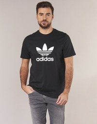material Men short-sleeved t-shirts adidas Originals TREFOIL T SHIRT Black