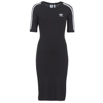 material Women Short Dresses adidas Originals 4 STRIPES DRESS Black