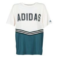 material Women short-sleeved t-shirts adidas Originals ADIBREAK SS TEE White / Marine