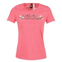 material Women short-sleeved t-shirts adidas Performance FOIL LINEAR Pink