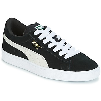 Shoes Children Low top trainers Puma SUEDE JR Black / White