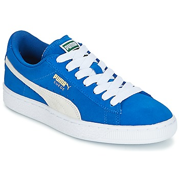 7cff42f61d7 Shoes Children Low top trainers Puma SUEDE JR Blue   White
