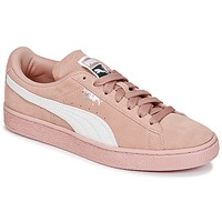 Shoes Women Low top trainers Puma SUEDE CLASSIC W'S Pink / White