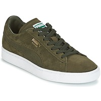 Shoes Low top trainers Puma SUEDE CLASSIC + Kaki / White