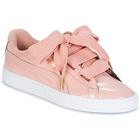 Shoes Women Low top trainers Puma BASKET HEART PATENT W'S Pink