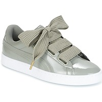 Shoes Women Low top trainers Puma BASKET HEART PATENT W'S Grey