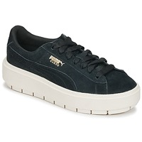 Shoes Women Low top trainers Puma SUEDE PLATFORM TRACE W'S Black / White