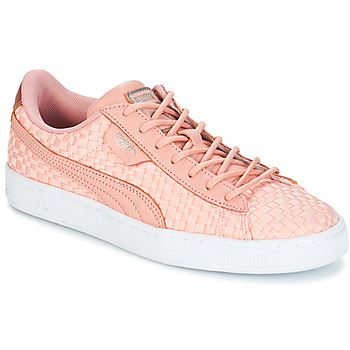 Shoes Women Low top trainers Puma BASKET SATIN EP WN'S Peach