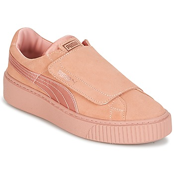 Shoes Women Low top trainers Puma PLATFORMSTRAP SATIN EP W'S Pink