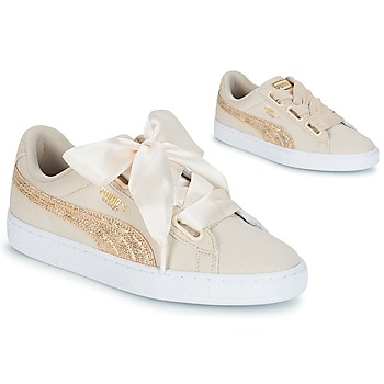 Shoes Women Low top trainers Puma BASKET HEART CANVAS W'S Beige