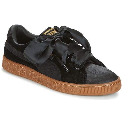 Puma Basket Heart Vs W N Black Fast Delivery Spartoo Europe Shoes Low Top Trainers Women 79 20