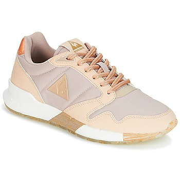 Shoes Women Low top trainers Le Coq Sportif OMEGA X W METALLIC Pink / Beige