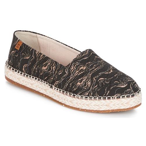 Shoes Women Espadrilles El Naturalista SEAWEED CANVAS Black / Grey