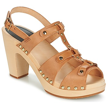 Shoes Women Sandals Swedish hasbeens BRASSY Camel