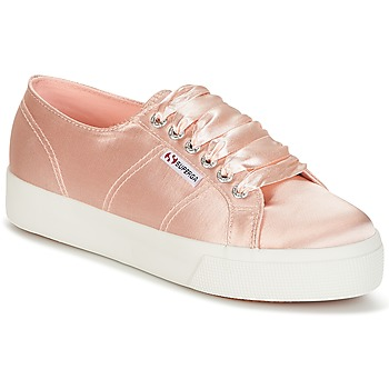 Shoes Women Low top trainers Superga 2730 SATIN W Pink