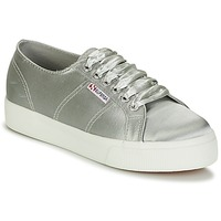 Shoes Women Low top trainers Superga 2730 SATIN W Grey
