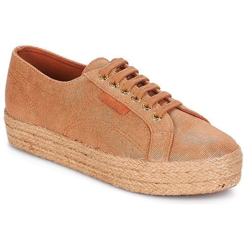 e34b64564c403 Shoes Women Low top trainers Superga 2730 LAME DEGRADE W Brown / Pink / Gold