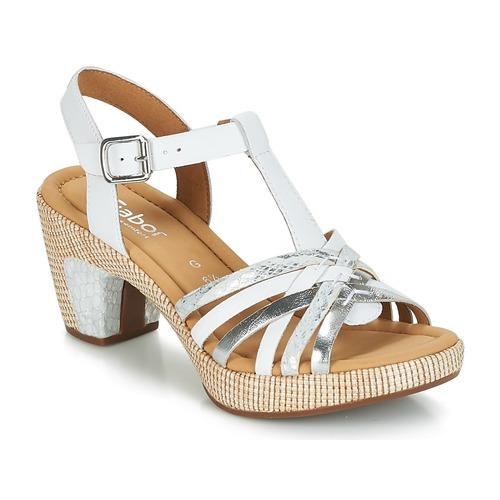 Shoes Women Sandals Gabor MASTIAR White / Silver