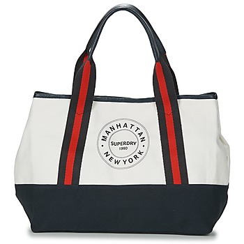 Bags Women Shopper bags Superdry BAYSHORE BEACH TOTE White / Marine / Red