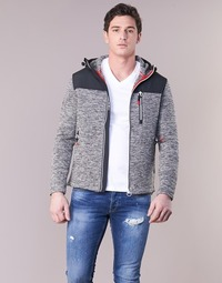 material Men sweaters Superdry STORM MOUNTAIN ZIPHOOD Grey
