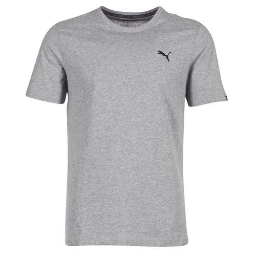 material Men short-sleeved t-shirts Puma ESS TEE Grey
