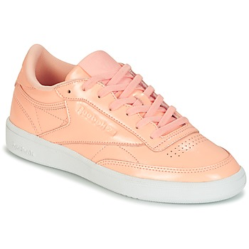 Shoes Women Low top trainers Reebok Classic CLUB C 85 PATENT Pink