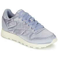 Shoes Women Low top trainers Reebok Classic CLASSIC LEATHER SATIN Violet