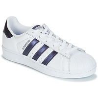 Shoes Women Low top trainers adidas Originals SUPERSTAR W White / Blue