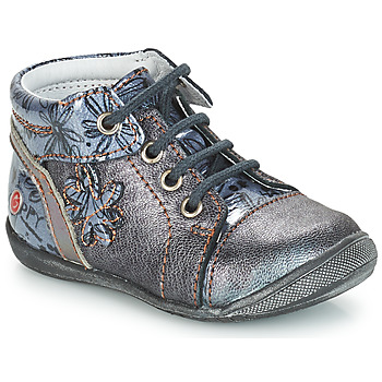 Shoes Girl Mid boots GBB ROSEMARIE Grey / Blue / Kezia