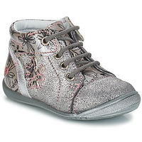 Shoes Girl Mid boots GBB ROSEMARIE Grey / Silver / Kezia