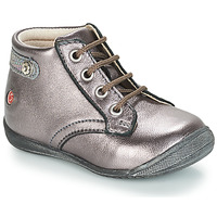 Shoes Girl Mid boots GBB NICOLE Violet / Metallic