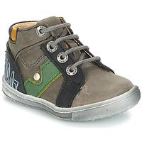 Shoes Boy Mid boots GBB REGIS Nuv / Gray black / Messi