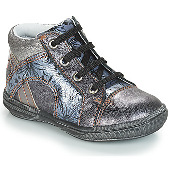 Shoes Girl High top trainers GBB ROSETTA Silver / Blue