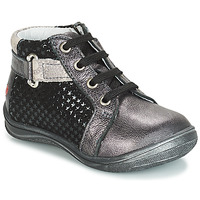 Shoes Girl High top trainers GBB RICHARDINE Black / Grey