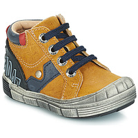 Shoes Boy High top trainers GBB REINOLD Yellow