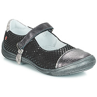 Shoes Girl Ballerinas GBB RIKA Black / Silver
