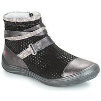 Shoes Girl High top trainers GBB ROCHELLE Grey / Black