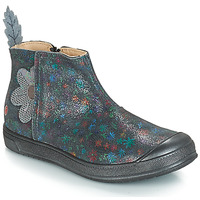 Shoes Girl Boots GBB ROMANE Vte / Grey / Printed