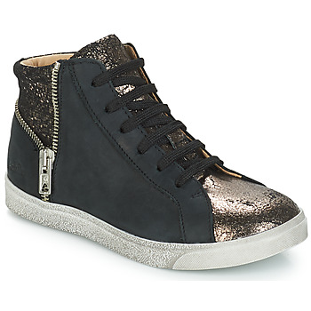 Shoes Girl High top trainers GBB CARLA Black / Bronze